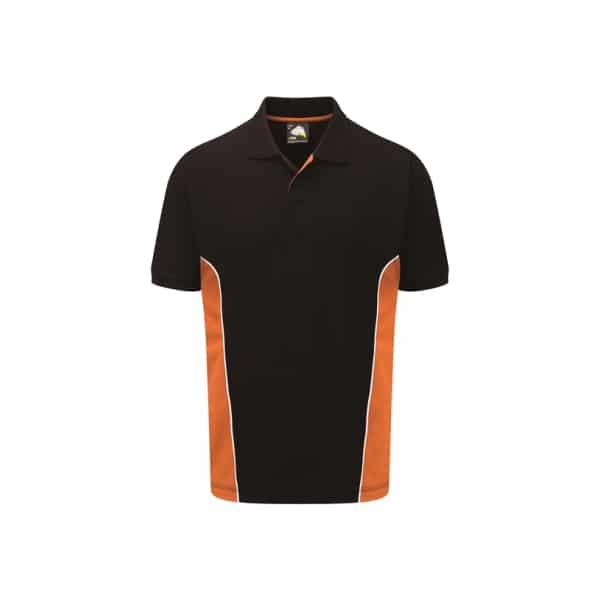 Silverstone Poloshirt_ Black-Orange