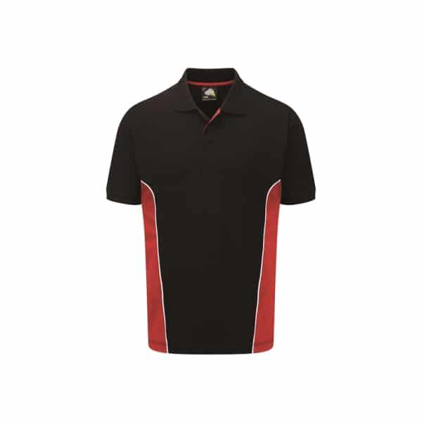 Silverstone Poloshirt_ Black-Red