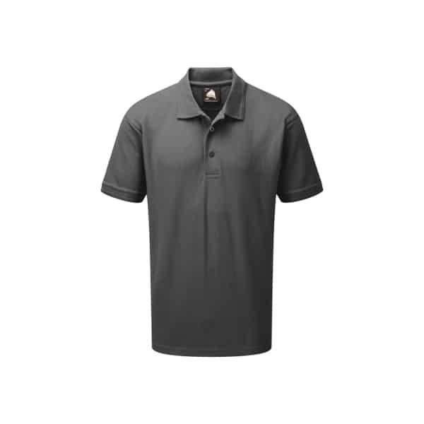 Orn Oriole Polyester Polo Shirt - Graphite