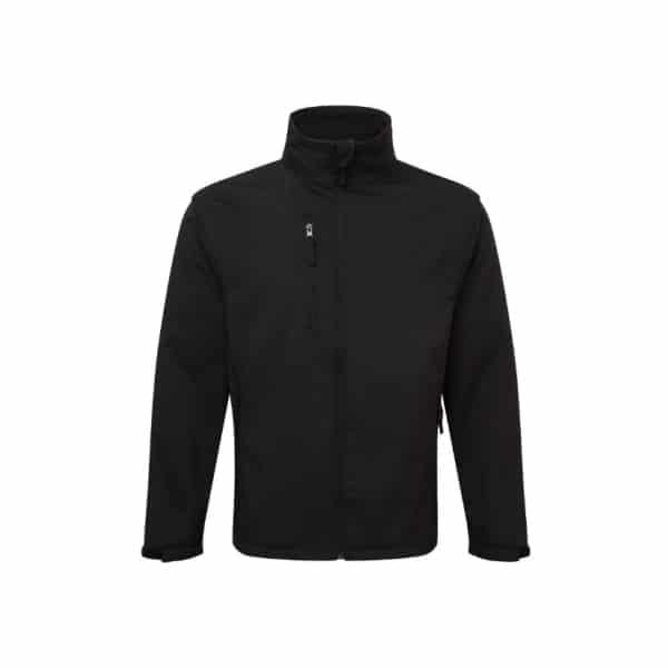 Essential Workwear 3 Layered Softshell Jacket - Black