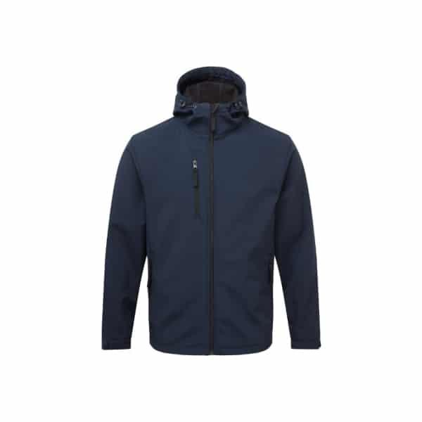 Essential Workwear Hooded Softshell Jacket - Black