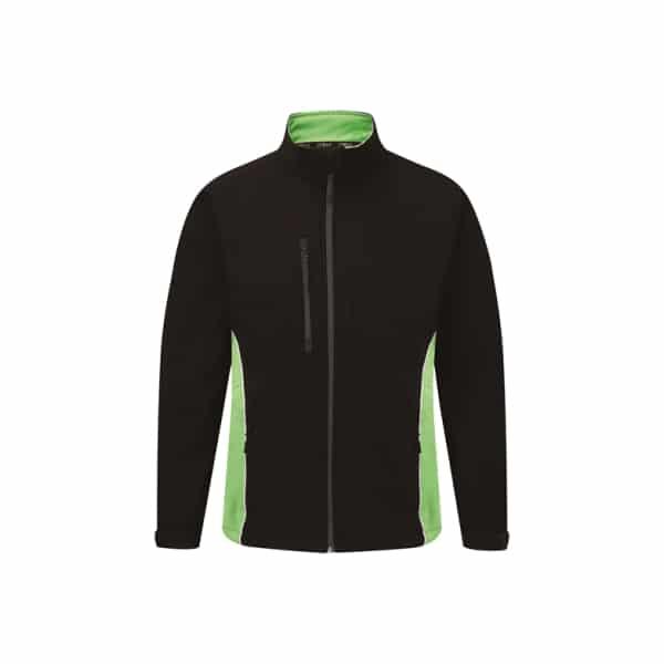 Silverstone Softshell Jacket_ Black-Lime