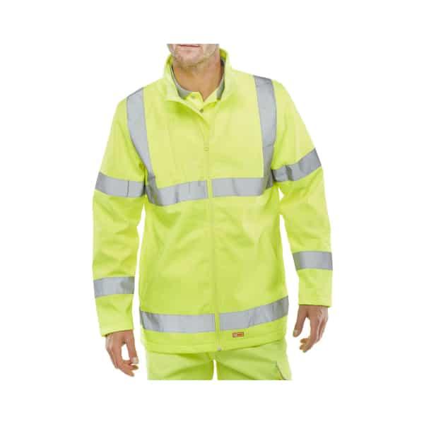 Leo Buckland Hi Vis Softshell Jacket