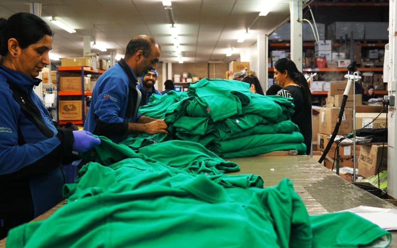 packaging workwear at essential workwear